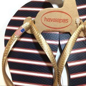 havaianas USA Patriotic Flip Flops Size 7/8
